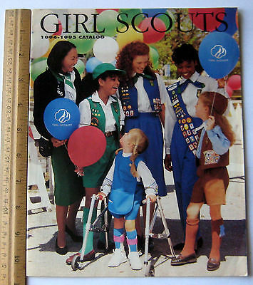 Girl Scout 1994-1995 EQUIPMENT CATALOG Book Official Uniform Jewelry Reference