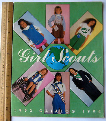 Girl Scout 1993-1994 EQUIPMENT CATALOG Book Official Uniform Jewelry Reference