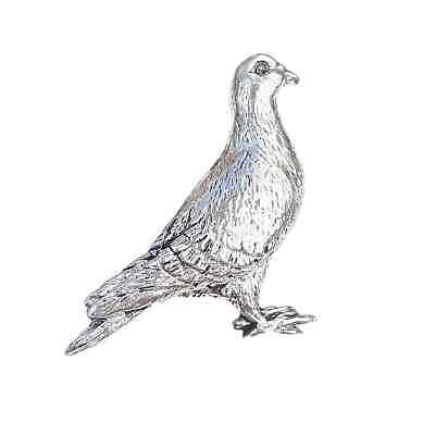 Pigeon Finely Handcrafted in Solid Pewter In UK Lapel Pin Badge