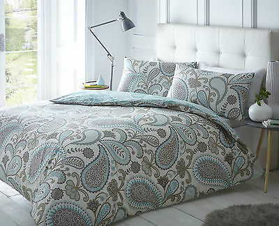 Pieridae Paisley Duvet Cover & Pillowcase Bed Set Single Double King Super Teal