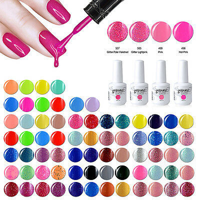 Elite99 4 pcs Kit de Esmalte de Uña de Gel Soak off UV LED Manicura Arte 15ml