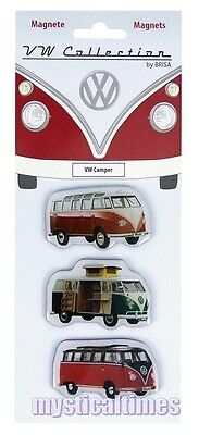 New * T1 Camper * Official Uk Volkswagen T1 Camper Licensed Magnets Pack Of 3