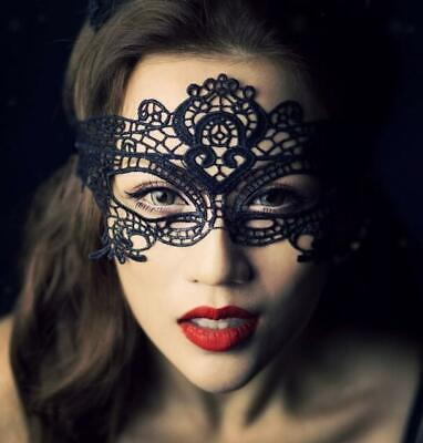 Sexy Women Black Lace Eye Face Mask Masquerade Ball Prom Halloween Costume Party