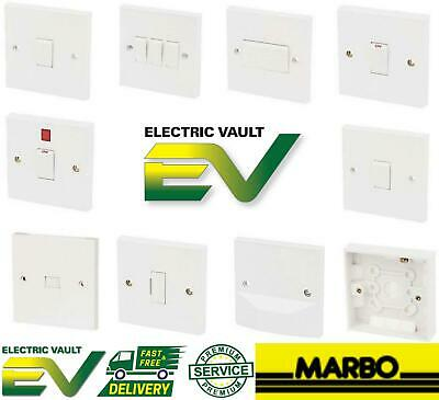 MARBO EXCEL WHITE Moulded Switches & Sockets Multi Options *Clearance*