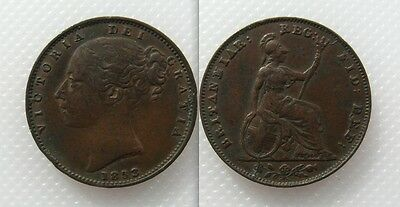 Collectable 1853 Queen Victoria Farthing - Young Head - Lot 3
