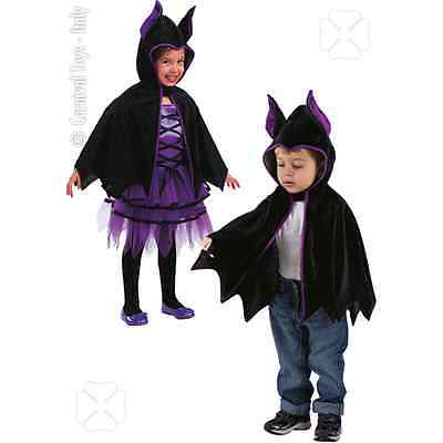 Mantellina Pipistrello In Velluto Accessorio Costume Bambini Halloween