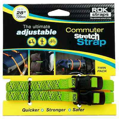 Oxford Motorcycle Bike Rok Adjustable Reflective Buckle LD 12mm Straps Green