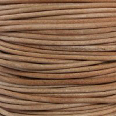 Natural (Undyed)- Premium Natural Round Leather Cord  *