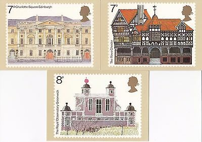 GB - Mint PHQ Cards - 1975 - European Architectural Heritage Year