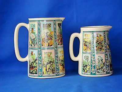 Collectable Ringtons tea eastgate pottery picture card jugs pitcher creamer pair