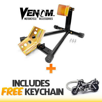 Venom Motorcycle Wheel Tire Chock Self-locking Stand Chocks+Cruiser Keychain