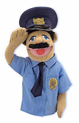 """15"""" POLICE OFFICER PUPPET #2551 ~ Community Helper ~ Melissa & and Doug"""
