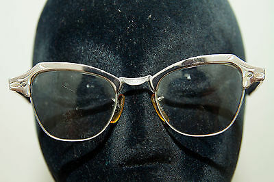 True Vintage Bausch & Lomb Cat Eye Glasses 20.44 10K GF Gold Filled Silver
