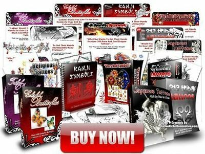 BEGINNERS TATTOO TRAINING COURSE  8 books 5 dvds job lot on ONE DISC