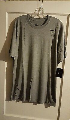 Nike Legend Short Sleeve Dri Fit Tee Grey Size Small New with Tags