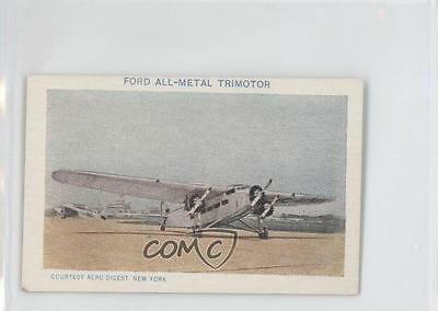 1930 Necco Airplanes Food Issue E195 #10 Ford All-Metal Trimotor Card 1b8