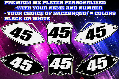 Yamaha WR250F 07-13 WR450F 07-11 Custom Pre Printed Number plate Backgrounds