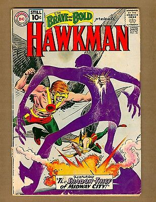 Brave and the Bold 36 (FR) DC Comics 1961 3rd HAWKMAN by KUBERT (c#08272)