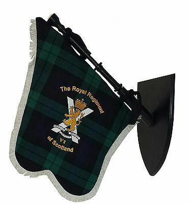 The Royal Regiment of Scotland Regimental Bagpipe Banner, Made in Scotland