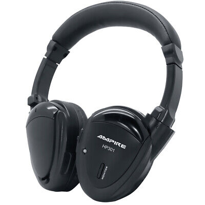 casque infrarouge AMPIRE HP301 2 canaux, sac + pliable + câble jack 3,5 mm