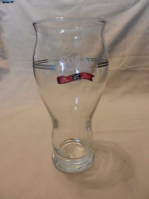 """Samuel Adams 25th Anniversary Beer Pint Glass Clear with Logo 6.75"""" tall"""