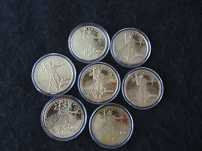 1933 St. Gaudens Double Eagle Coin Copy Lot Of 7