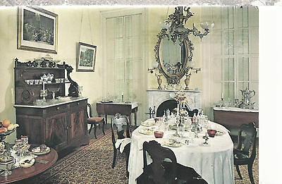 Lincoln Tallman House  Formal Dining Room  Janesville  Wisconsin  Postcard 8916a