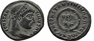 Ancient Rome AD 306-337 Thessalonica Constantine the Great Follis-VOT #1