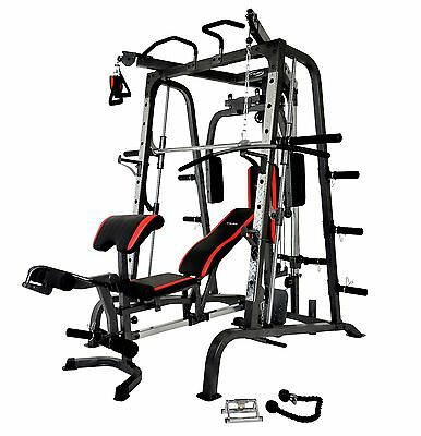 Smith Machine Cable Cross + Chin Up + Fid Bench Leg Extension + Preacher Pad
