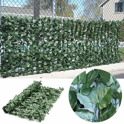 Artificial Ivy Hedge Fencing Faux Leaf Privacy Fence Screen Decoration Panels 3A