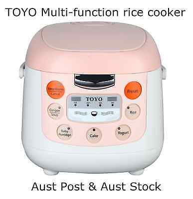 Japan Brand TOYO Multi-function Rice Cooker 4 Cups/2.0L MB-FS20D Soup, Rice etc.