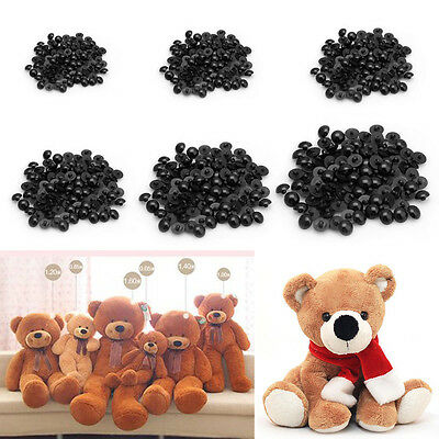 100PCS Buttons Round Domed Mushroom Sewing Shank DIY Animal Eyes Toy Craft