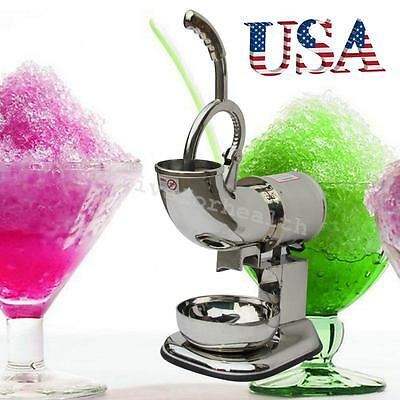 USA Ice Shaver Machine Snow Cone Maker Shaved Ice Electric Crusher safe operate