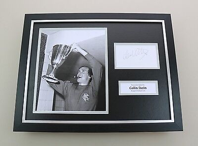 Colin Stein Signed Photo Framed 16x12 Rangers Autograph Memorabilia Display +COA