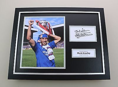 Mark Hateley Signed Photo Framed 16x12 Rangers Autograph Memorabilia Display COA