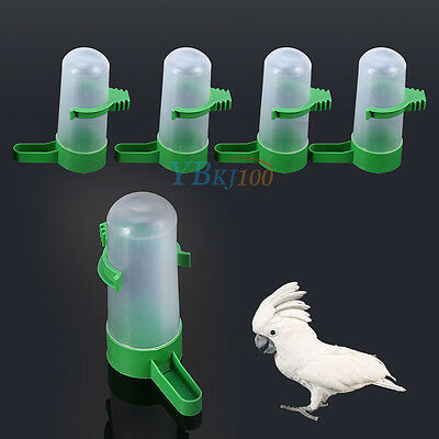 4pcs Pet Drinker Food Feeder Waterer Clip For Cage Bird Parrot Cockatiel Budgie