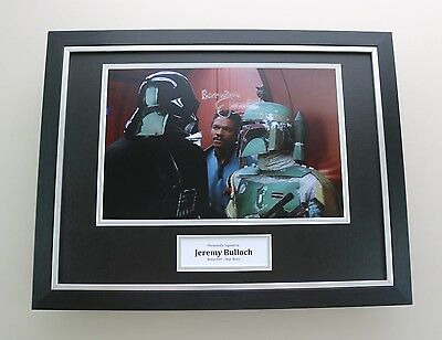 Jeremy Bulloch Signed Photo Framed 16x12 Star Wars Autograph Memorabilia Display