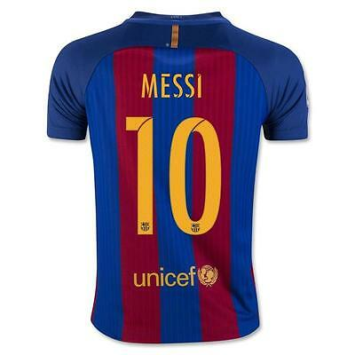 Nike FC Barcelona 2016/17 Authentic Player Verion Home Jersey w/ Messi 10