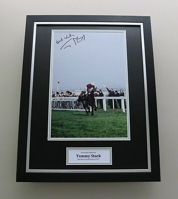 Tommy Stack Signed Photo Framed 16x12 Red Rum Autograph Memorabilia Display COA