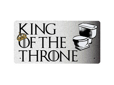 WP_BATH_001 KING OF THE THRONE - Metal Wall Plate