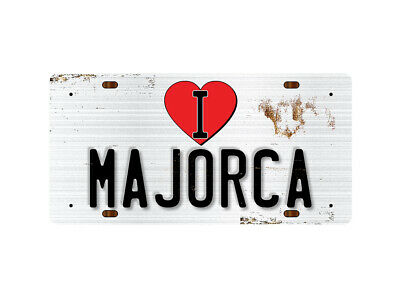 MAGALUF white background design Heart WP/_ILC/_184 I Love - Metal Wall Plate