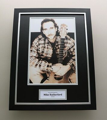 Mike Rutherford Signed Photo Framed 16x12 Genesis Autograph Memorabilia Display