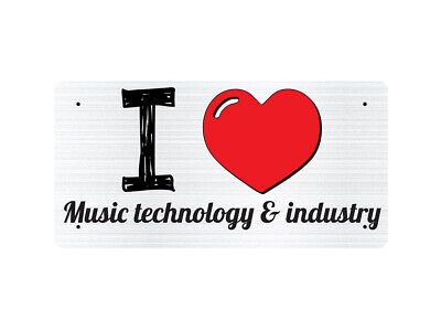 WP_ILV_685 I Love (Heart) Music technology & industry (grey metallic design) - M