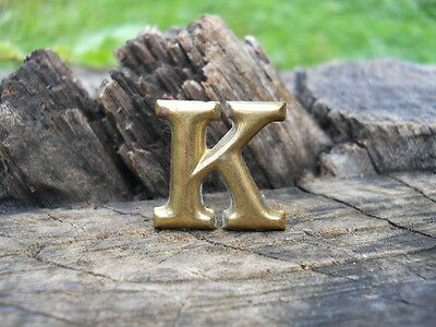 Rare Original Vintage Antique Civil War Relic Company Letter K Brass Lead Filled