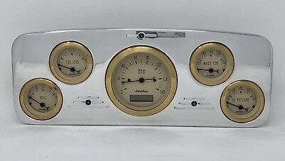5 GAUGE WING STYLE DASH CLUSTER GOLD