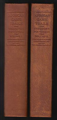 African Game Trails by Theodore Roosevelt (1910) ~SIGNED~2-VOLS, LEATHER, LTD ED