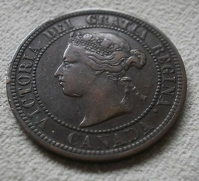 1876H Canada Canadian large cents one cent coin penny