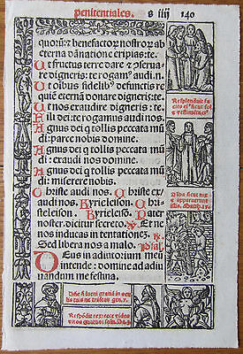 Leaf Book of Hours Woodcuts Venice (140) - 1518