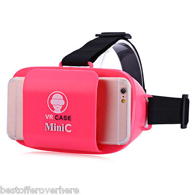 VR Case MiniC 3D Glasses  Virtual Reality Headset Private Theater for Smartphone