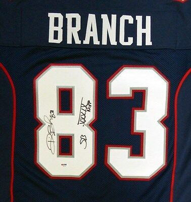 "New England Patriots Deion Branch Autographed Signed  Jersey ""sb  Mvp"" Psa/dna"